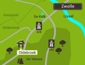 Omgeving Oldebroek kaartje 2